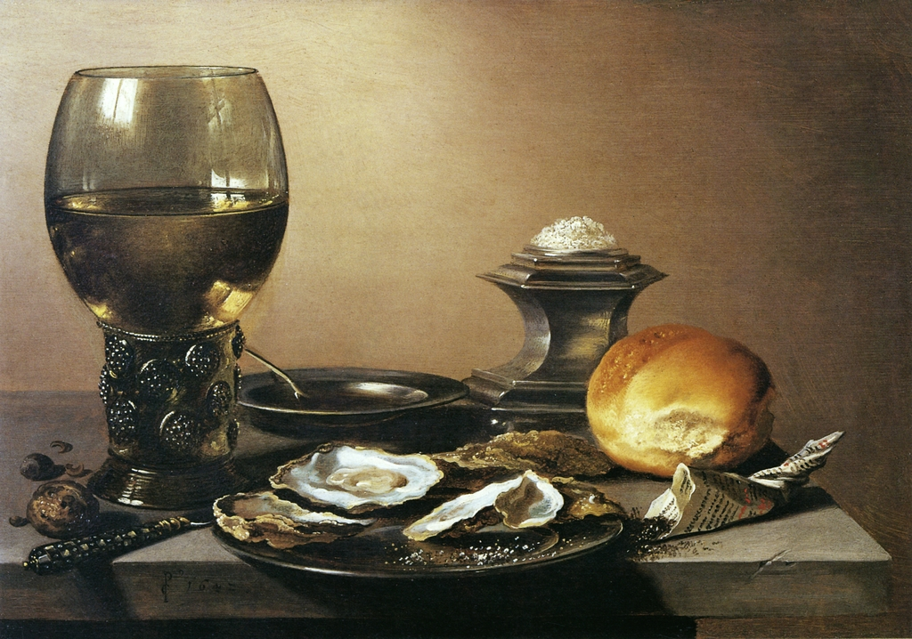 pieter-claesz-still-life-with-oysters-1642