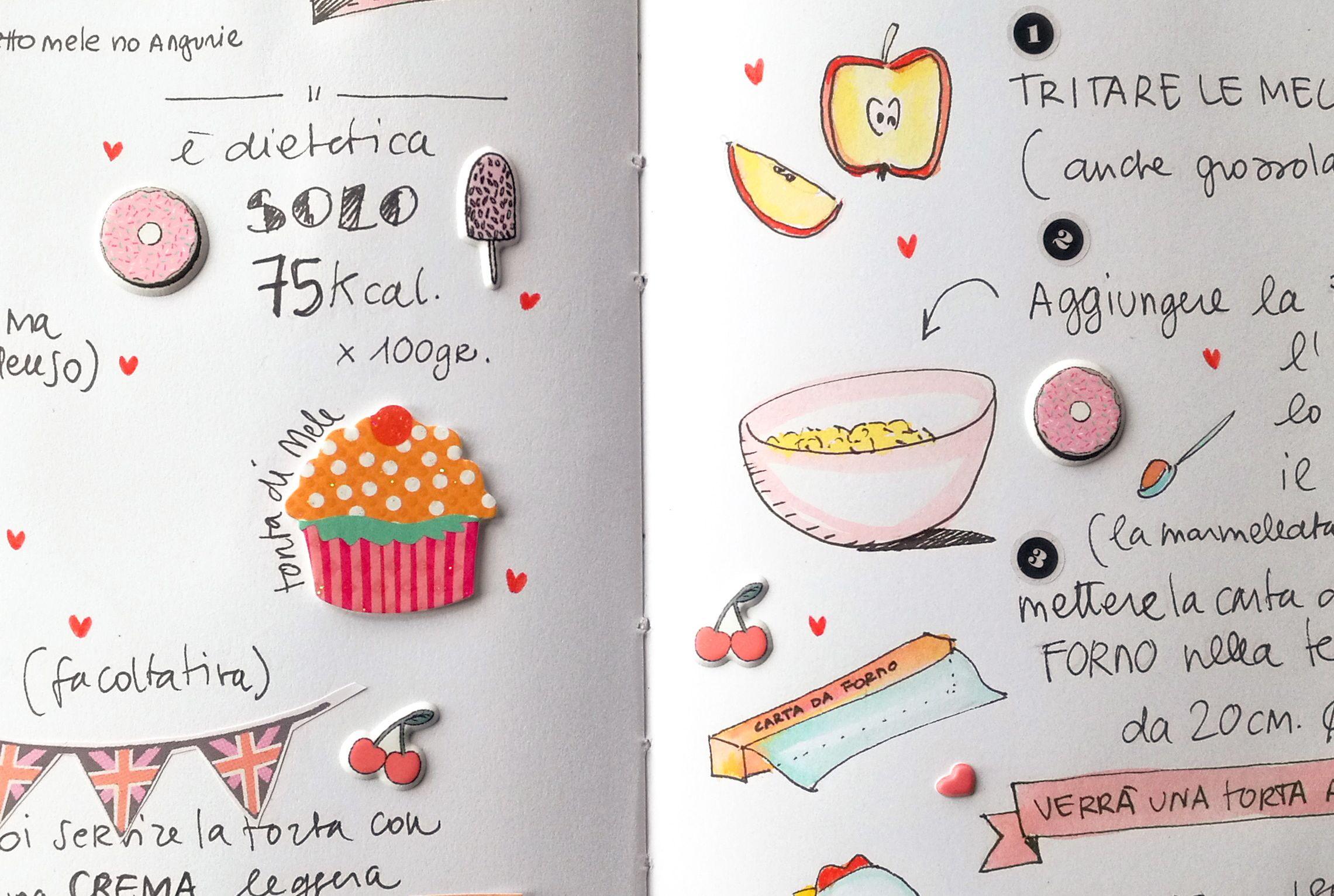 torta di mele dietetica Blossom zine