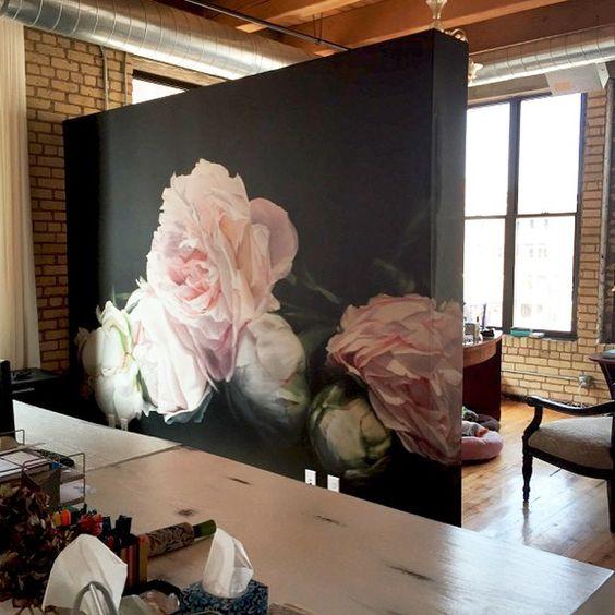 flower home decor Blossom zine wallpaper