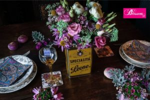 Blossom zine per Pastiglie Leone fiori tavola2