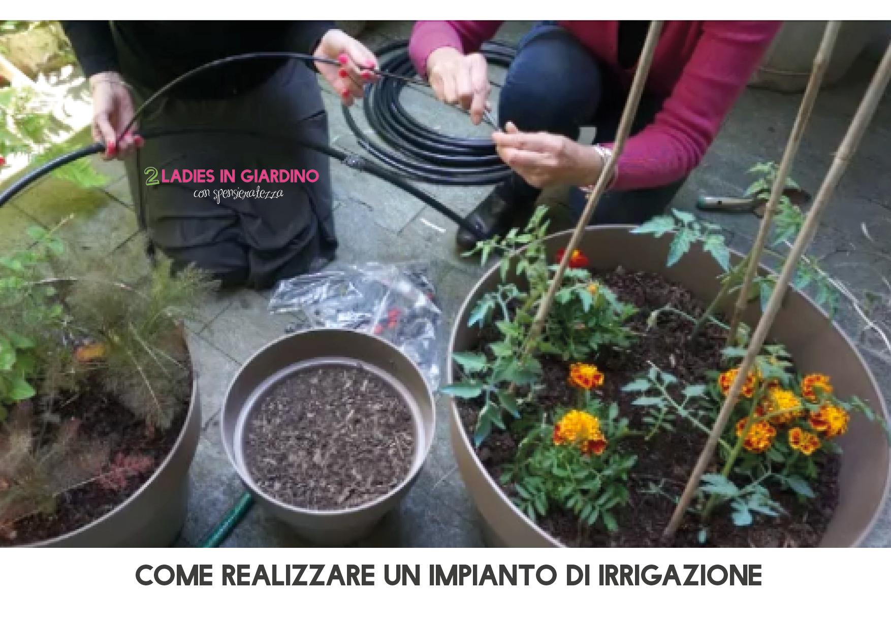 Come realizzare un impianto di irrigazione blossom zine blog for Impianto irrigazione vasi