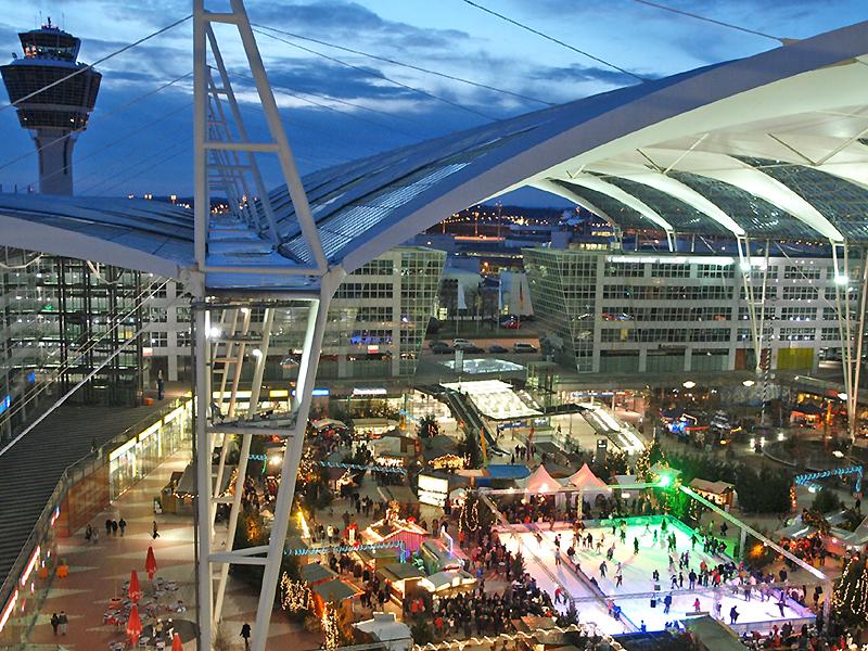 Christmas market Airport Munich, © Flughafen München GmbH