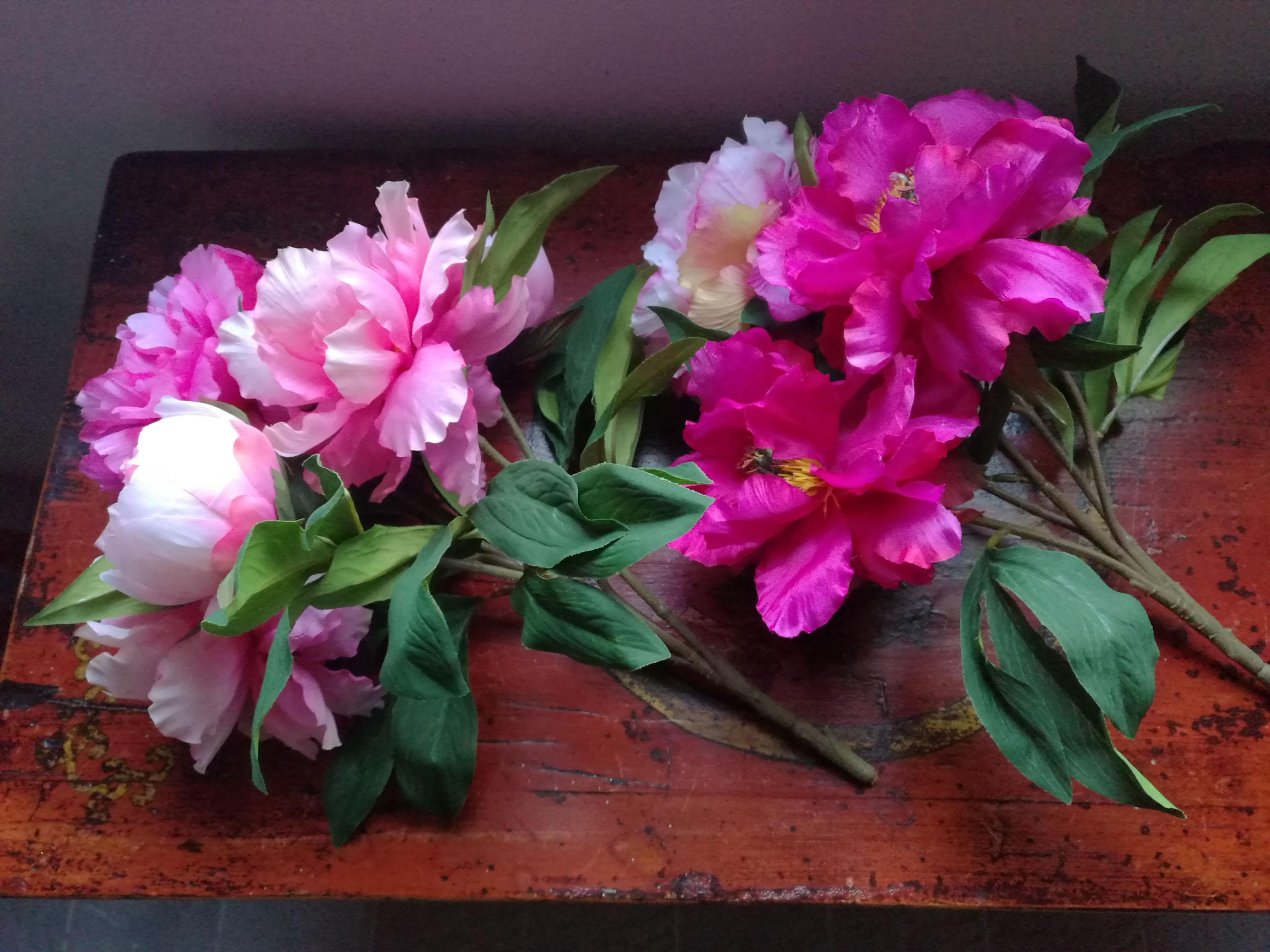 bellissimi fiori in tessuto