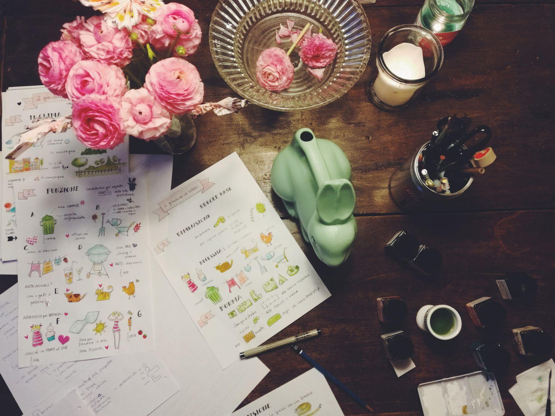 """Da Viridea partiranno i miei corsi """"ll giardino che vorrei"""" primi passi per imparare a progettare il vostro spazio verde con Blossomzine"""