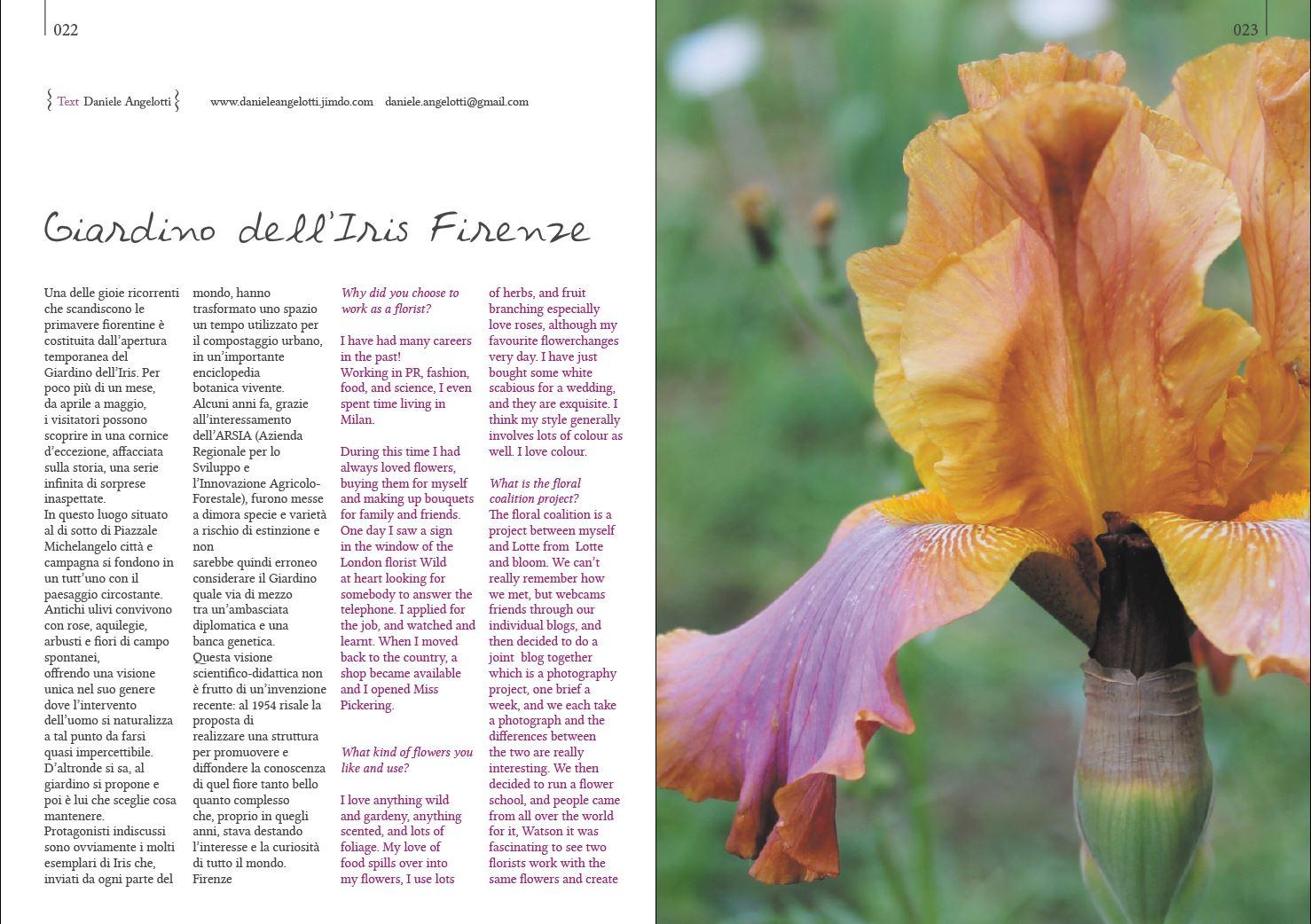 PH Daniele Angelotti per Blossomizne N4 Spring 2014 IRIS