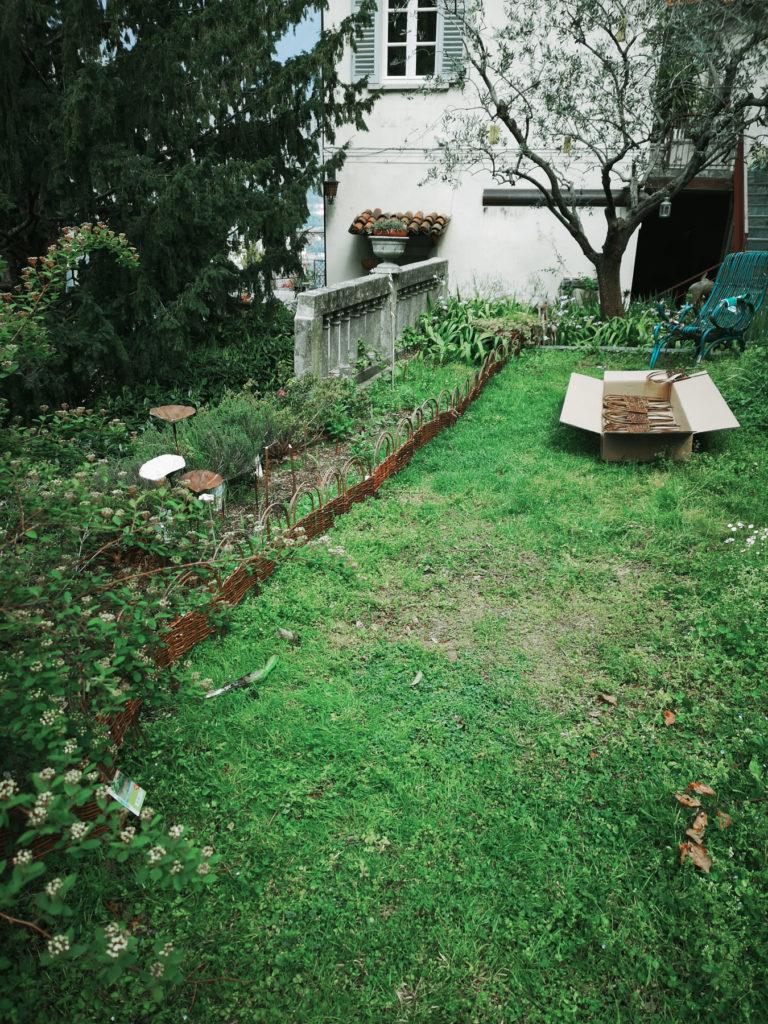 Blossomzine verdemax bordo ad arco in salice bordura mista inglese-2