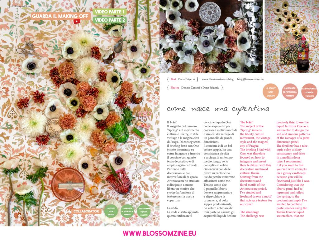 Come nasce una copertina della rivista Blossomzine