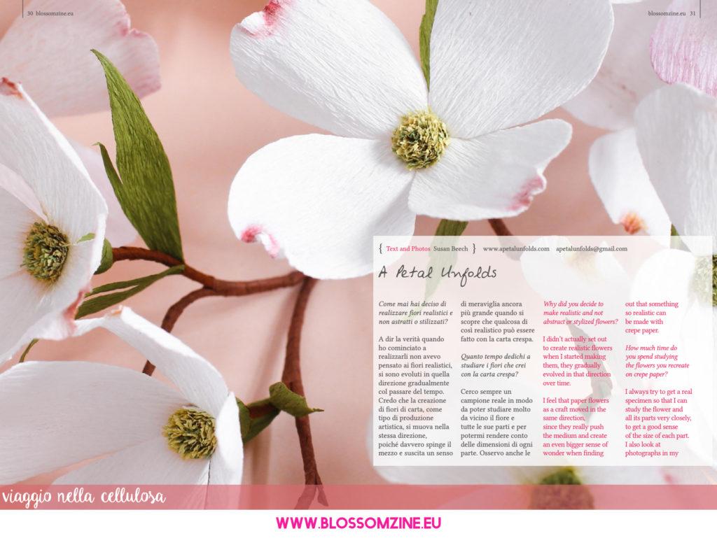I fiori di carta crespa di A Petal Unfolds su Blossomzine