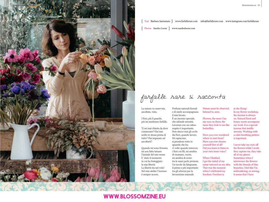 Farfalle rare intervista su Blossomzine