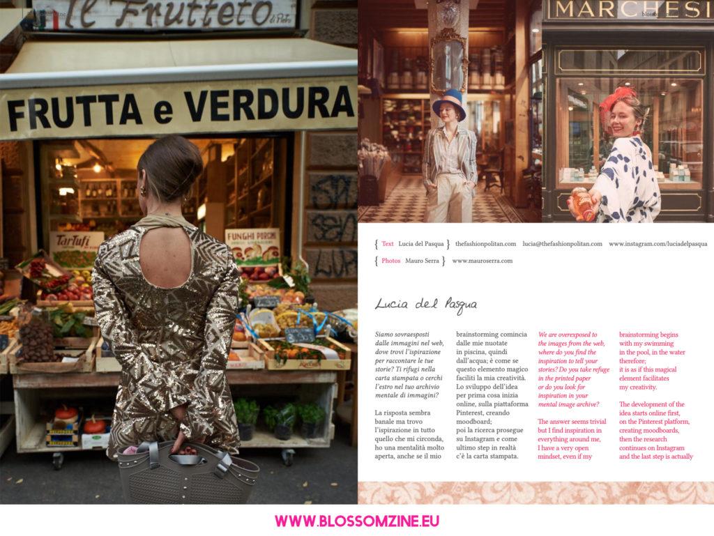 Lucia del Pasqua intervista su Blossomzine