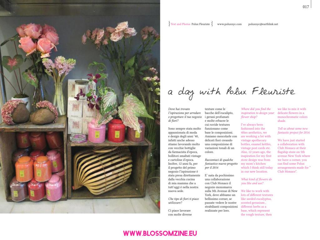 Polux Fleuriste, floral designer intervista su Blossomzine