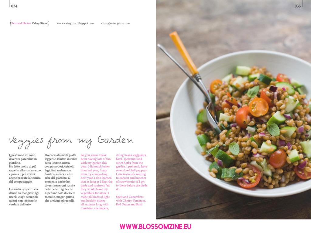 Ricetta veggie con farro, cetrioli e pomodorini