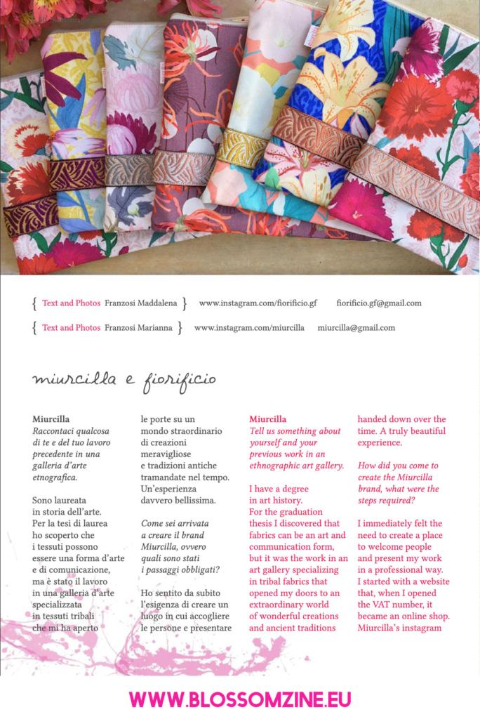 Le creazioni di Miurcilla e Fiorificio, intervista su Blossomzine
