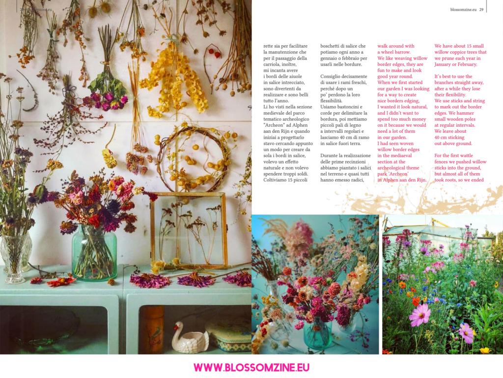 Silvia Dekker, designer di giardini, intervista su Blossomzine