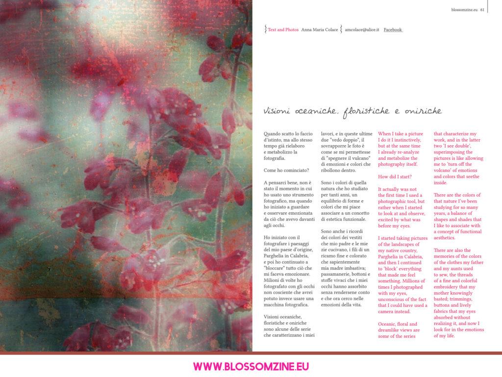 Le visioni oniriche di Anna Maria Colace, intervista Blossomzine