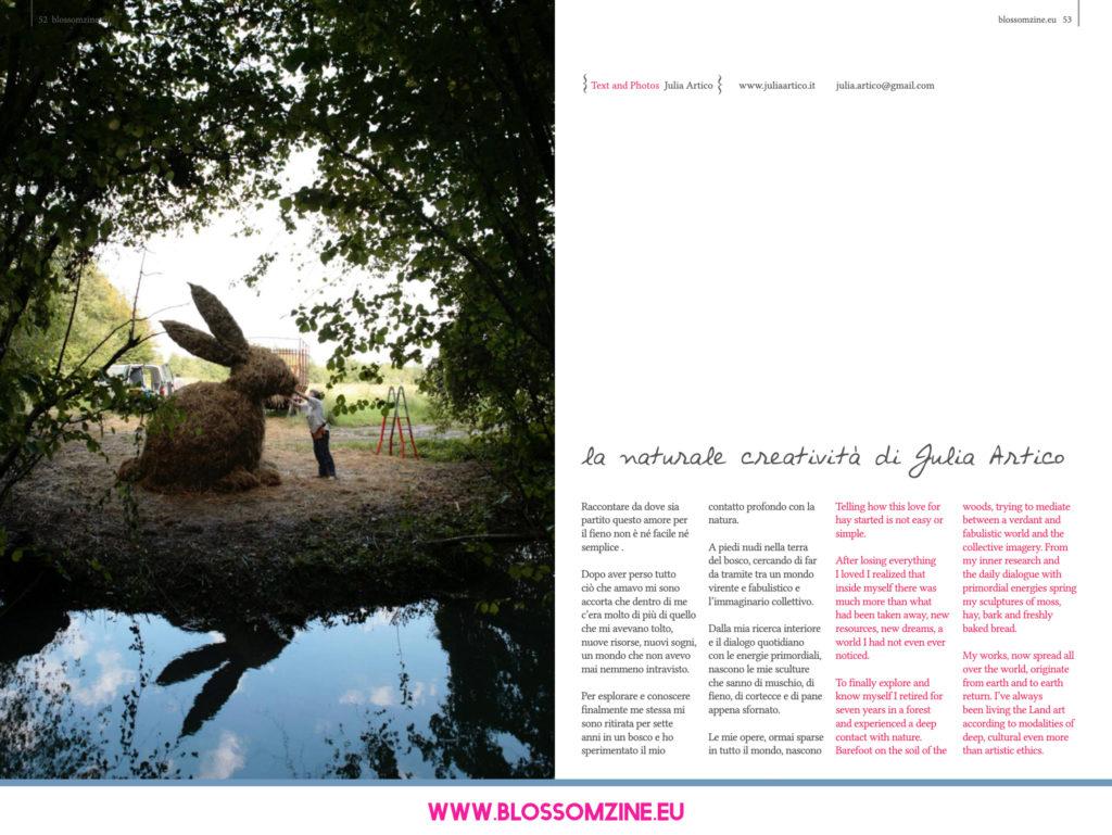 La naturale creatività di Julia Artico, intervista Blossomzine