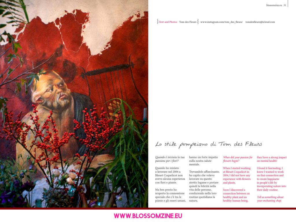 Lo stile pompeiano di Tom des Fleurs, intervista Blossomzine