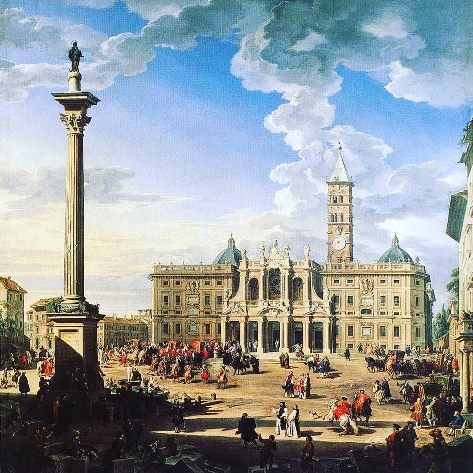 Giovanni Paolo Panini, Piazza e chiesa di Santa Maria Maggiore