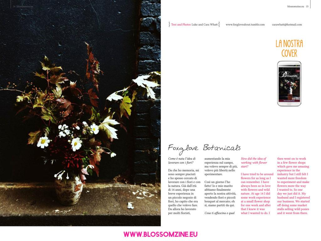 I bouquet di Foxglove, intervista Blossomzine