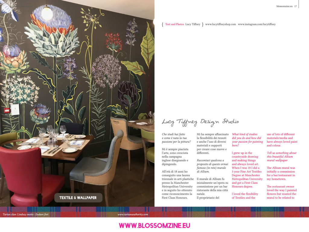 I murali fioriti di Lucy Tiffney, intervista Blossomzine