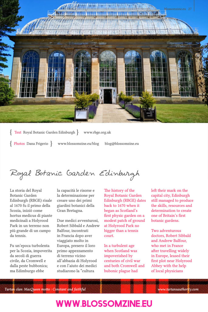 Visita al Royal Botanic Garden di Edimburgo, viaggio in Scozia Blossomzine
