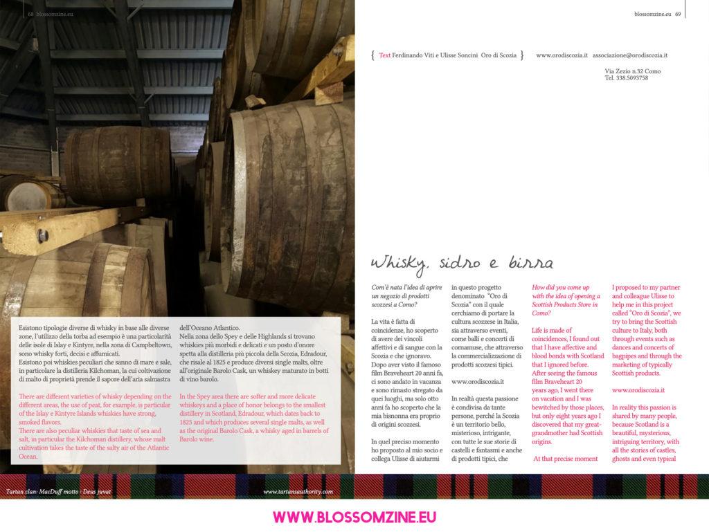 Oro di Scozia, intervista Blossomzine