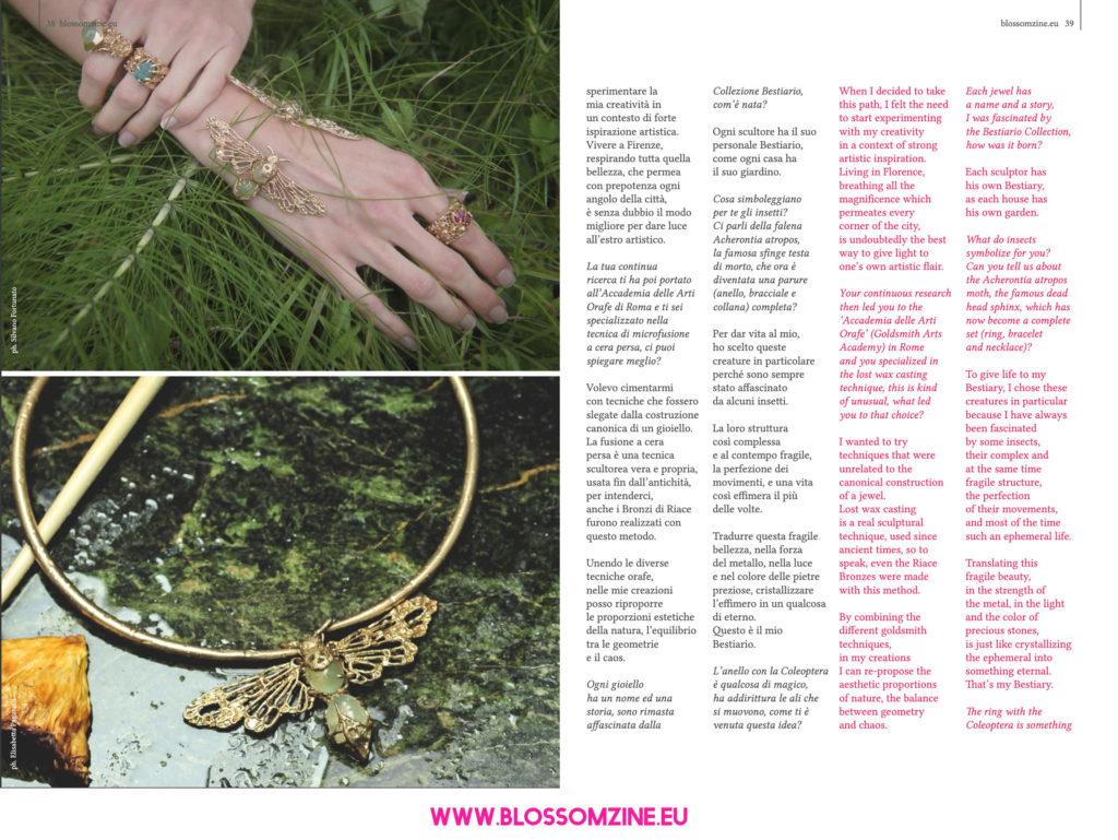 L'affascinante bestiario di Aster Jewellery, intervista Blossomzine