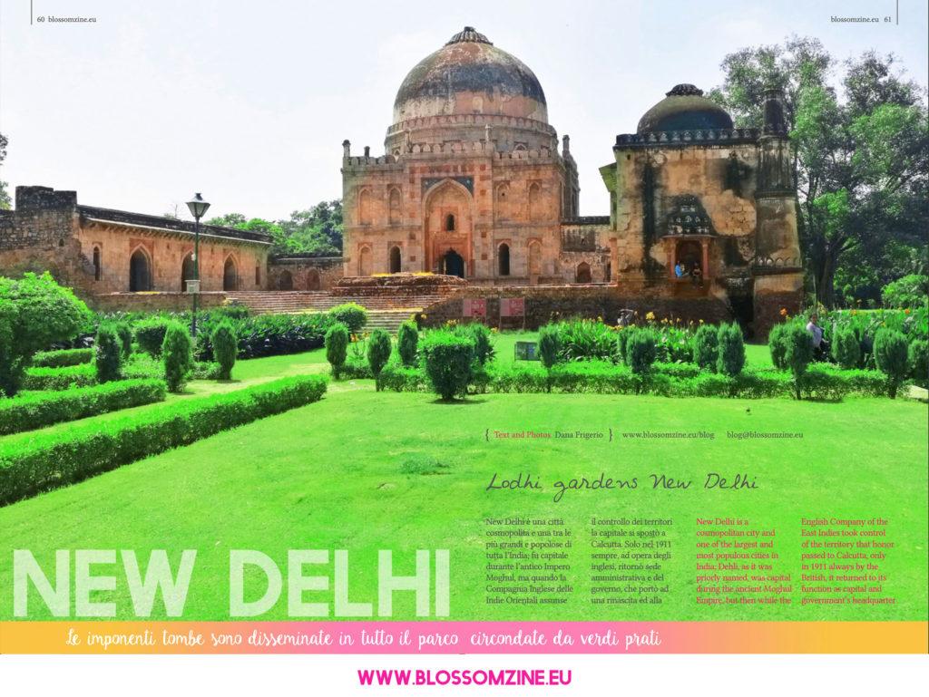 New Delhi e i giardini Lodhi Gardens, viaggio in India Blossomzine