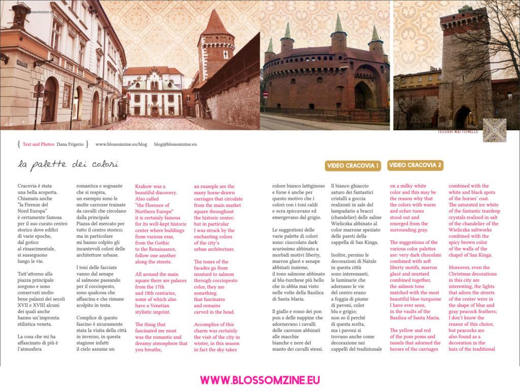 Palette dei colori Cracovia, viaggio Blossomzine