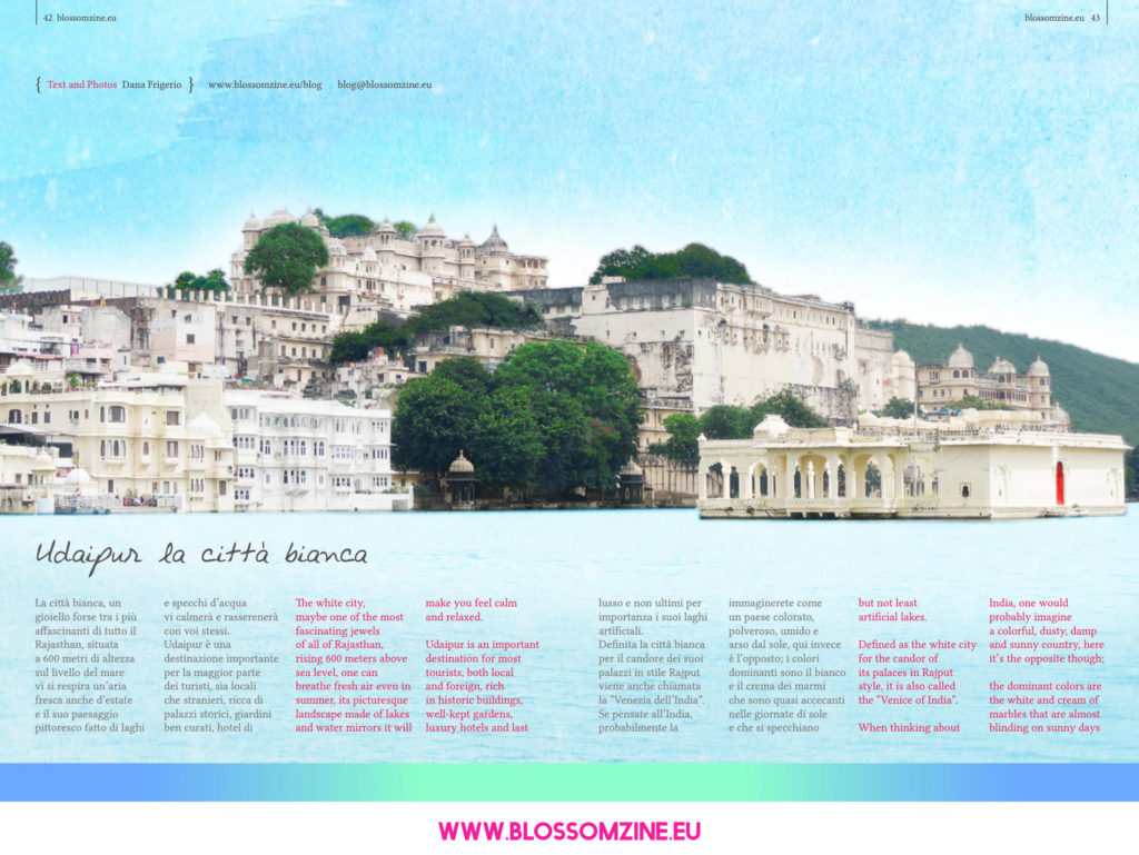 """Udaipur, la città bianca """"Venezia dell'India"""", viaggio in India Blossomzine"""