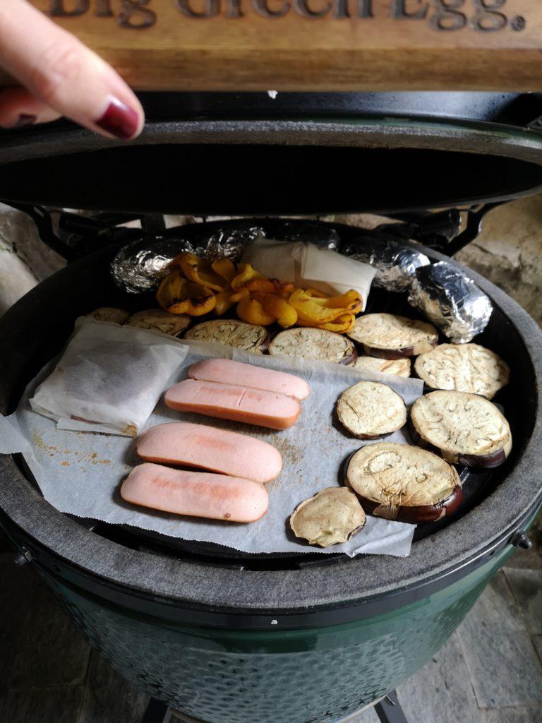 prove varie di cottura, con carta forno e alluminio BIG GREEN EGG