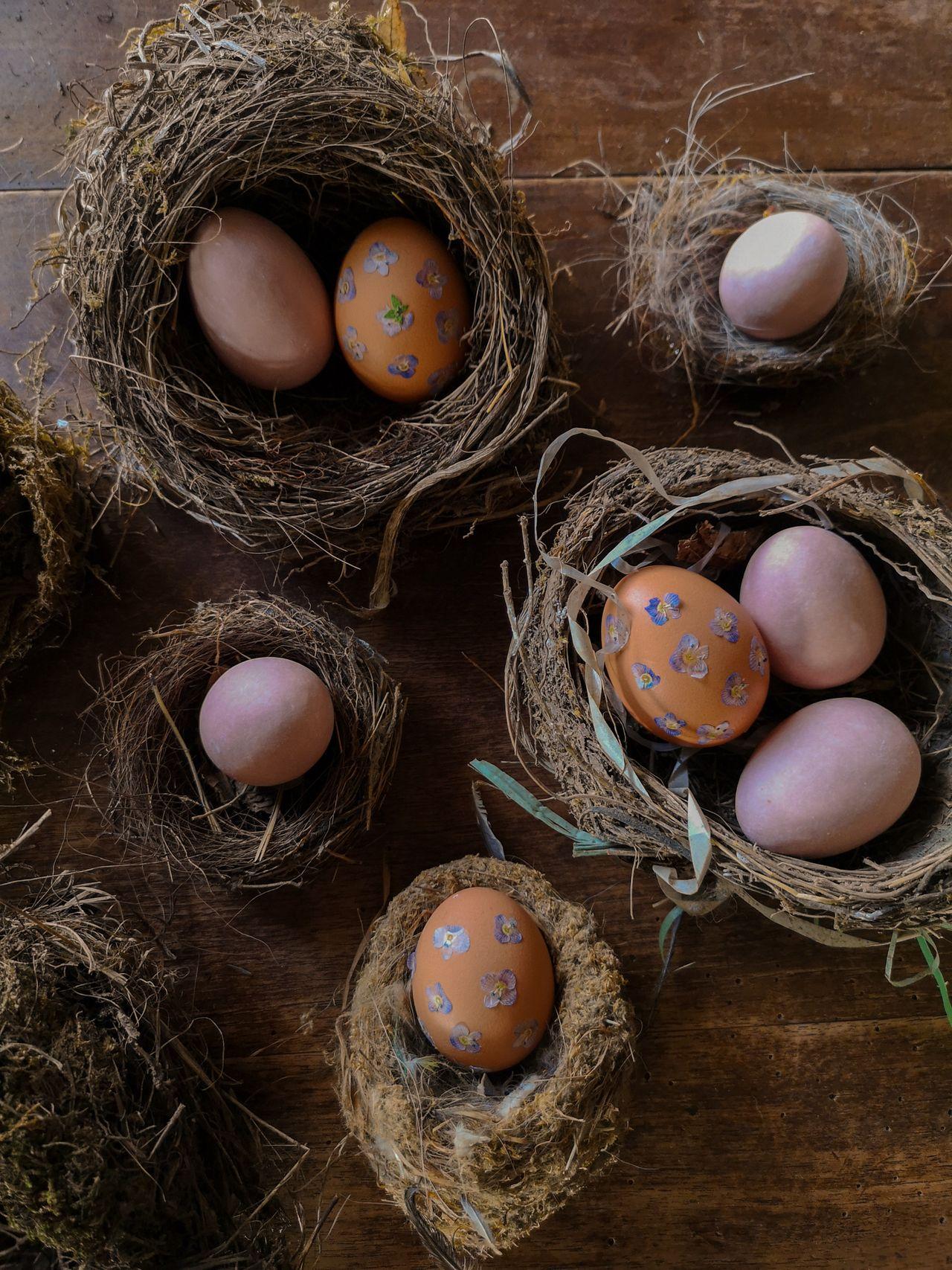 Decorare con i fiori le uova di Pasqua Blossomzine